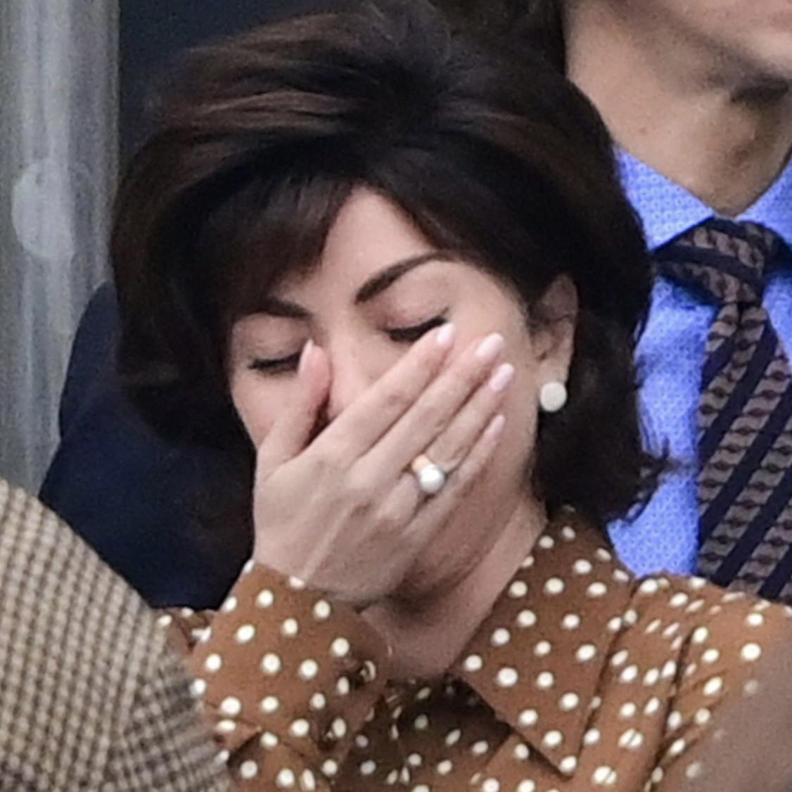 Lady Gaga laughing